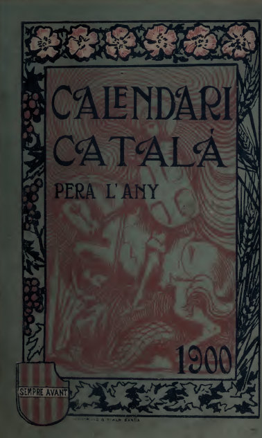 Calendari català, per a l'any 1900