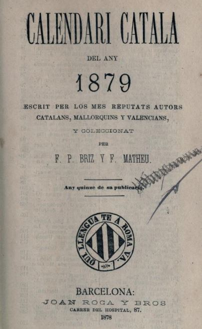 Calendari catalá del any 1879